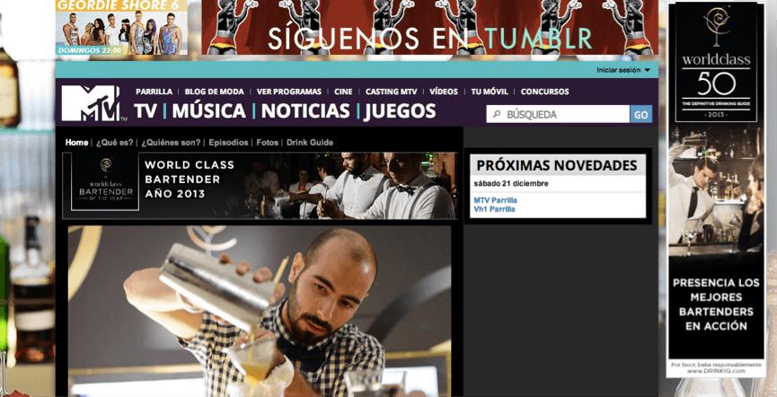 Flock Associates - Diageo World Class 2013 Spain Local Digital Activity MTV