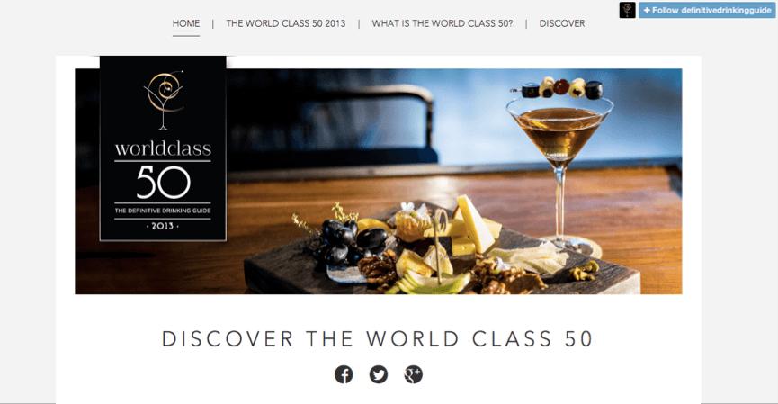 Flock Associates - Diageo World Class 2013 Definitive Drinking Guide