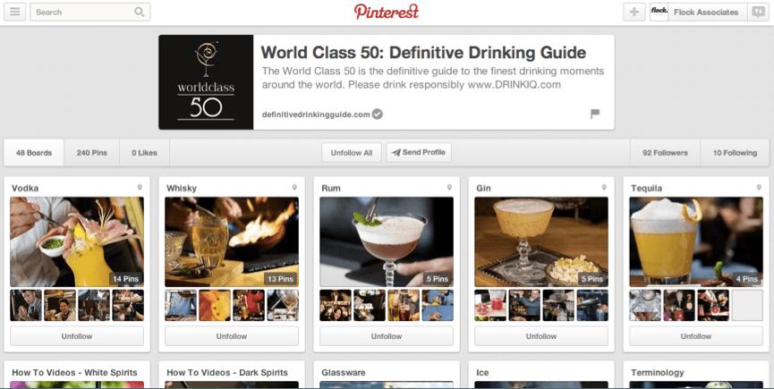 Flock Associates - Diageo World Class Pinterest